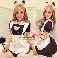 Wholesale New arrivals Japanese maid cosplay Sexy cute apron Costumes set Christmas party nightclub show girls Fun dress