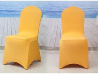 Wholesale Universal White Spandex Wedding Lycra Chair Covers for Wedding Banquet Hotel Decoration outdoor beach sofa chair covers