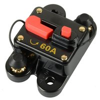 audio dc - 12V V DC Circuit Breaker Trolling Motor Auto Car Marine Boat Bike Stereo Audio Inline Fuse Inverter Waterproof with Manual Reset A Am