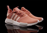 Wholesale 2016 NMD Runner R1 Mesh Triple White Cream Salmon City Pack Men Women Running Shoes Sneakers Originals Fashion NMD Runner Primeknit Sports
