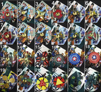 73types Nouvelle arrivée Fidget spinner The Avengers Cartoon épiderme de fer homme Hand Spinners jouets spinning top EDC Marvel Comics dans Retail box 100
