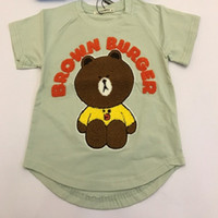 Fashion bear sleeves - Kids clotheing T shirt Round Collar D Embroidery Bear Short Sleeves Cotton Breathable Soft Leisure Lovely Fresh Fashion