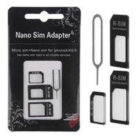Wholesale 1000sets In Nano SIM card to Micro SIM Nano Micro to mini sim adapter for iphone for samsung sim card adapter set