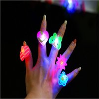Wholesale Sell of toys Luminous ring flash soft rubber ring new strange children s toys
