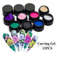 acrylic sculptures - Colour Nail Art Glue D Sculpture Carved Glitter Painting UV Gel Acrylic Modelling Manicure Decor Manicure Tools