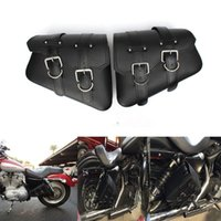 Wholesale 2pcs Motorcycle PU Leather Saddle Bag For Harley Sportster XL Hugger Sportster