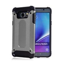 For Chinese Brand TPU+PC RoseGold Shield Armor Protective Phone Case For Samsung Galaxy NOTE 5 Note4 N3 note 3 N9006, Rugged Impact Defender Shockproof Anti-knock Cover Cases