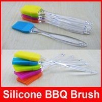 Wholesale Baking BBQ Bakeware Cake Pastry Bread Oil Cream Cooking Basting Brush Silicone Pastry Oil Cream BBQ Tool Basting Brush