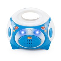 Wholesale Mini Simulation radio educational toy for kid classic electric furniture toy the best gift for children Blue