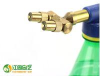 Wholesale nozzle vacuum Nozzle of pure copper reciprocating single double slider nozzle watering water spray portable pressure sprayer