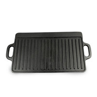 Wholesale High Qulity Cast iron fried steak pan with no coating can be use double sided