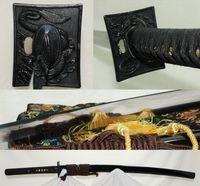 bamboo katana swords - Customized allowed Hand forged high carbon Steel clay tempered Blade Japanese Samurai Sword Katana can cut bamboo tree