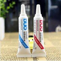 Wholesale DUO Eye Lash Glue Clear White black Makeup Adhesive Waterproof False Eyelashes Lady makeup tool Hot Selling DHL