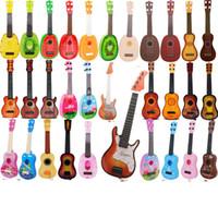 Wholesale Baby Mini Guitar Musical Toys for Kids Fruit Vintage Ukulele Cartoon Mickey Mouse Boys Girls Birthday Gift