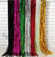 Wholesale Laser Waterfall shimmer curtain party wedding Backdrop decoration Metallic tassel bling curtains Birthday Christmas decor cm cm