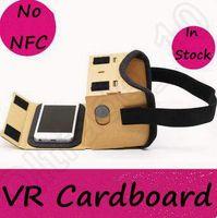 Wholesale DIY Google Cardboard Mobile Phone Virtual Reality D Glasses Unofficial Cardboard Google Cardboard VR Toolkit D Glasses CCA5312
