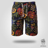 Cotton,Polyester big boardshorts - Hot Sell New Arrival Summer Deep Color Big Graphic Beach Shorts Muti color Printed Floral Boardshorts