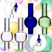 Cheap New arrival colorful glass carp cap can fit 10mm 14mm 18mm Quartz Thermal Banger or other banger For glass bowl Glass Bongs