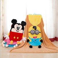 baby minnie mouse plush - Baby Mickey Minions Blanket Minnie Mouse Swaddling Cartoon Air Condition Blankets Plush Minion Pillow Cushion Fashion Plush Toys Gifts B1436