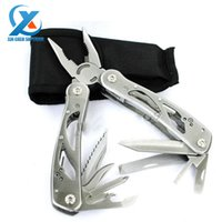 Wholesale Multifunctional Stainless Steel Folding Pliers Outdoor Travel Combination Pliers Camping Hiking Knives Tool Fast Shipping