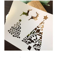 Wholesale DIY white stencils pattern design Masking template For Scrapbooking cardmaking painting DIY cards T shirts the tree