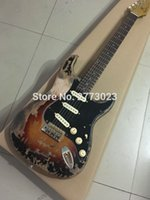 Wholesale Costum shop Relic ST Electric Guitar Relic guitarra Elm body Vintage Tuners OEM Accepted High Quality