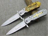Precio de Carbono especial-El cuchillo de cuchillo de la fruta de la oferta especial 2017new limitó la manera superior El carbón de acero plegable del acero del cuchillo de la lámina del envío libre (blanco / amarillo)
