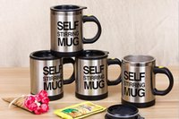 Wholesale 1pc Hot Selling Self Stirring ML Automatic Electric Coffee Cup Smart Stainless Steel Mugs Perfect Souveni Mixing Coffee Tea Cup
