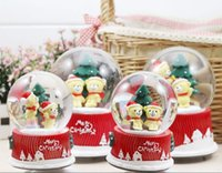 Wholesale Creative arts and crafts of mm for Christmas d Santa snow ball interior glass crystal ball