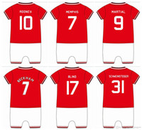 bebe sports - Bebe Soccer Sports Rompers cotton Kids onesie romper POGBA home IBRAHIMOVIC MARTIAL TOP QUALITY CUSTOM