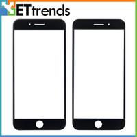 Vidrio externo de la alta calidad para el iPhone 7 más la lente de cristal delantera de cristal de la lente del tacto que la pantalla blanca / el negro libera el envío de DHL