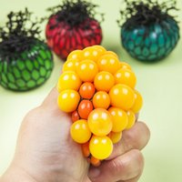 Wholesale AUTOPS Antistress Toys Face Reliever Grape Ball Autism Mood Squeeze Relief Healthy Toy Funny Geek Gadget for Men Halloween Jokes