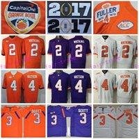 Wholesale 2017 Finals Patch All Stitched Men College Clemson Tigers Jerseys Sammy Watkins Artavis Scott Deshaun Watson Champions Orange Purple