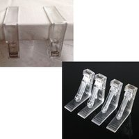 Wholesale 4x Clear Plastic Transparent Tablecloth Tables Useful Clips Holder Cloth Clamps Party Picnic Wedding Prom