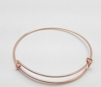 Bangle activities white roses - DIY alloy wire metal bracelet White K Rose gold Gold Europe and the United States Alex and any activities to adjust the bracelet Fine gif