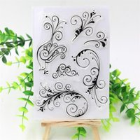 album stamps - Flourishes Transparent Clear Silicone Stamp Seal for DIY scrapbooking photo album Decorative clear stamp sheets