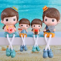 Wholesale Simple modern bedroom wardrobe small ornaments crafts resin Diaojiao doll creative one family