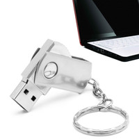 Wholesale GB GB USB Flash Drive Memory Pen Stick Swivel Key Chain Bulk Steel Metal