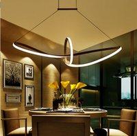 aluminium din - Remoter Dimming Modern Led Pendant Light Led Pendant Lamp Aluminium V Suspension Lamp for Dinning Room