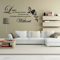 Precio de Calcomanías de decoración de la habitación-Love Without Flower Wall Quotes Etiquetas Decorativas de Vinilo Decorativas Decoración DIY