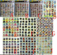 Wholesale New Cartoon set Superheros Tsum Dragon Ball Mickey Pin Badges Round Brooch Badge Kids Clothing Accessories cm
