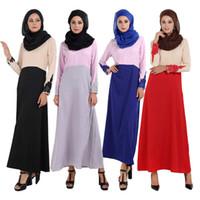 Wholesale 9093 Muslim Lady clothing Muslim lady dress Muslim Long gown Red Black Blue Gray M L XL