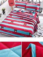Wholesale 2017 Cat Animal Printed Summer Comforter Bedding Set pc Air Conditioning Quilt Pillowcase Bedding set set