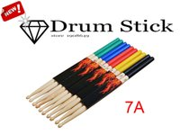Wholesale Muse Hot Sale pair Mixed Colors A Maple Wood Drumsticks5 Colours Professional Top Quality Drumsticks Wood Drum Parts