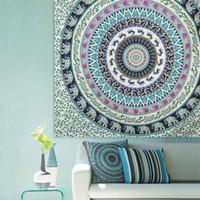 bath wall decor - Indian Decor Mandala Tapestry Wall Hanging Hippie Throw Bohemian Twin Bedspread Beach Shawl Bath Towel Beachwear