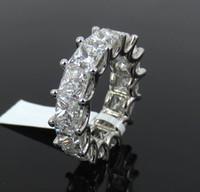 Wholesale Fine ct GIA D F VVS VS Princess Cut Diamond Platinum mm Eternity Band