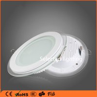 Wholesale Savebulbs W W W Round LED Spotlight Glass LED Recessed Ceiling Downlight K Daylight White Light Fixture AC V V