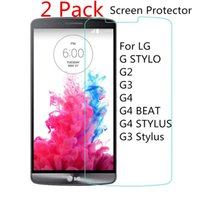 Wholesale 2 Pack For LG GSTYLO G2 G3 G3Stylus G4 G4BEAT G4STYLUS Screen Protector Glass Tempered Protector MM H