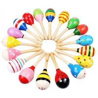 Wholesale Baby Wooden Toy Rattle Baby cute Rattle toys Orff musical instruments Educational Toys hot selling