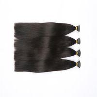 Pré-lié I Tip Brésilien Indien Indien Humain Extensions de cheveux 400g 400 Strands 16-26 pouces Cheveux droits Noir Naturel